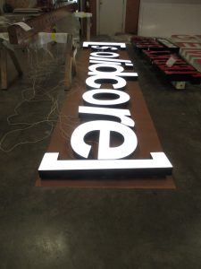 Custom sign manufacturing