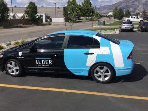 Car Wraps partial car wrap vehicle graphics lettering vinyl 300x225